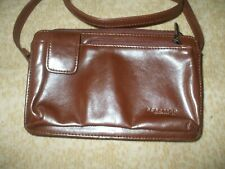 Kenneth Cole Reaction brown faux leather shoulder bag crossbody travel shop #367