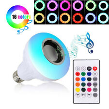 Wireless Speaker Bulb Light Music Playing Lamp RGB 12W E27 LED Remote Controller