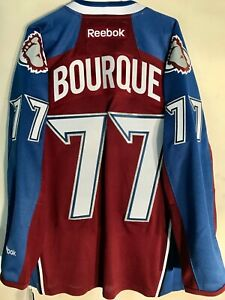 REEBOK PREMIER NHL JERSEY COLORADO AVALANCHE RAY BOURQUE BURGUNDY SIZE S