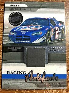 2006 Legends Racing Artifacts SILVER RACE USED TIRE Card #d/199 RUSTY WALLACE