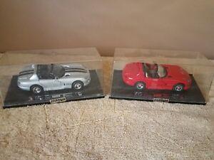 2 NEW RAY DIECAST CARS ~ DODGE VIPER ~ 1/32 ~ 1999