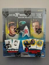 STAR TREK 35TH ANNIVERSARY HOLOFEX FACTORY SEALED BOX PLUS SELL-SHEET & P1 PROMO