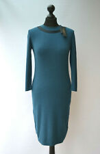 PAUL COSTELLOE Black label womens Midi Party Dress Emerald Green Bodycon UK 10