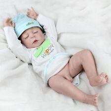 """22"""" Reborn Baby Doll Handmade Full Body Silicone Vinyl Sleeping Boy Dolls Bath"""