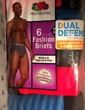 Fruit of the Loom Men's Fashion Briefs 5 Pack - Stripes/Solids - XL (40-42) NIP