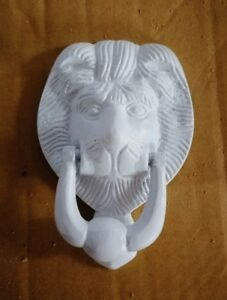 white lions head door knocker