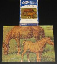 "VTG PERFECT PICTURE JIGSAW PUZZLE ""LOOKING FOR A FRIEND"" HORSES MARE & FOAL  CIB"