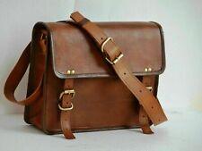"""Leather 13"""" Real Vintage Leather Laptop Case Bag for MacBook Pro Messenger Bag"""