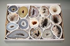 Oco Geode Lot Natural Polished Agate Halves Specimens Display Druzy Lot #2