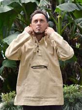 Hemp Hoodie 100% Handwoven Hemp Shirt Jedi Tribal Burning Man Festival Natural