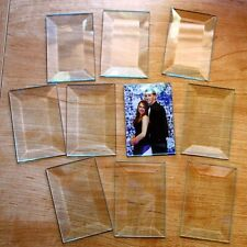 (2 pack) 5 x 7 inch Clear Memory Glass Rectangles Bevel Perfect Picture Keeper