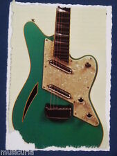 ar/ handmade greetings / birthday fathers day card CHARVEL SURFCASTER GUITAR