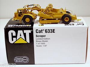 Caterpillar 633E Scraper - 1/87 - Brass - CCM - MIB