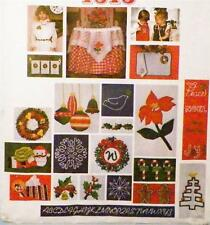 Vogue Christmas Crafts Sewing Pattern Embridery Applique Santa Pack 2 NOS