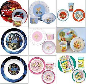 Kindergeschirr Auswahl Cars Winnie Pooh Minions Geschirr Besteck Teller Becher