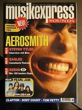 MUSIK EXPRESS SOUNDS 1994 # 11 - AEROSMITH EAGLES PEARL JAM BODY COUNT CLAPTON