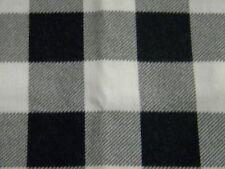 tissu carreaux noir blanc damier coton 48X104cm neuf mercerie couture 223