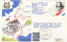 2444 RAF Special Cover from AMSTERDAM in Fokker F27 Troopship C5 to ANDORRA 1980
