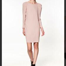 Zara Rose Pastel Gold Star Bouton Robe Dos Taille M Parti