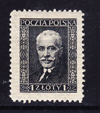 POLAND SG273a 1z slate-black on cream-horizontally laid paper l/m mint cat £110