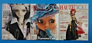 3 Haute Doll Magazines December 2005 April 2007 June 2007 Good Condition