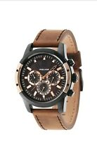 Police Timepieces Mens Quartz Watch With 24hrs Day Date Sub-dials (94528AEBR)