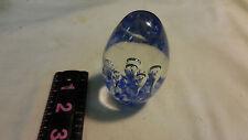 Blue Hand Blown Glass Paperweight