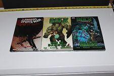 Marvel Lot of 3 Graphic Novels Incredible Hulk & Spiderman SEALED Hardcovers D01