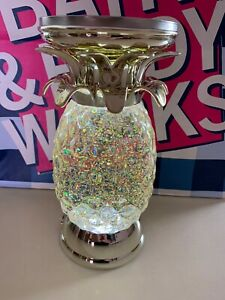Bath & Body Works Pineapple Water Globe Candle Holder Ltd Ed Lights Up New