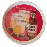 Lucky Draft Light Beer Motion Barrel Rotating Barrel Light Sign Vintage Bar