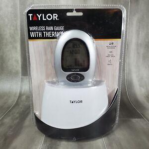 Taylor 2755 Digital Wireless Rain Gauge with Thermometer Indoor Outdoor