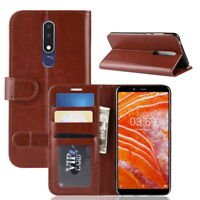 Flip Stand PU Leather Protector Wallet Phone Case Cover For 6.0'' Nokia 3.1 Plus