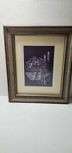 In The Mood  -  Pat Richter Longaberger Basket Wood Framed Art Print