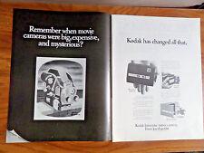 1968 Kodak Instamitic Movie Camera Ad Model M12