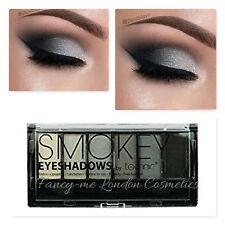 Technic Smokey Eyeshadows Palette 6 shades Black Grey Silvers +Applicator FREEPP