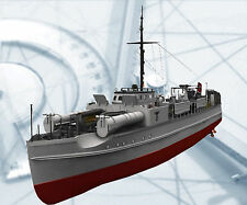 "SCALE GERMAN E BOAT MODEL SHIP PRINTED PLANS ONLY  35.8"" GAS OR ELECTRIC POWER"