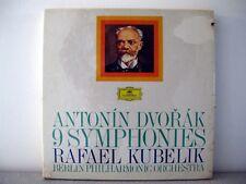 DVORAK 9 Symphonies BPO Rafael Kubelik 9 x LP BOX SET Deutsche Grammophon DGG