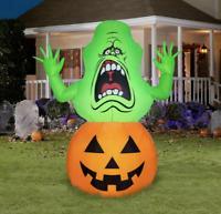 Ghostbusters Slimer Airblown Inflatable 4.5Ft Halloween yard decor pumpkin gemmy