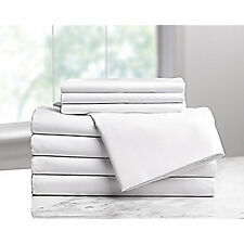 DRYFAST Fitted Sheet,XL Twin Size,80 in. L,PK6, 1A29714, White