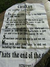 Vintage Ulster Irish 100% Linen Cricket - The Marylebone Cricket Club - T Towel