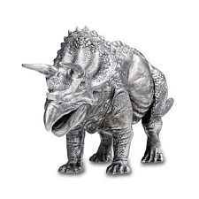 8 oz Silver Antique Statue - Triceratops - SKU #149864
