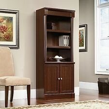 Sauder 412019 Palladia Collection Select Cherry Library With Doors