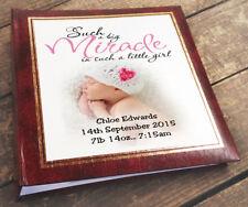 Large personalised photo album book 6x4 200 photos  newborn baby Girl gift