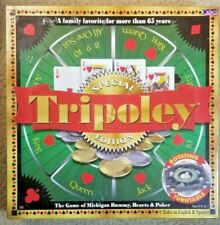 Cadaco Tripoley Special Edition Rotating Turntable Michigan Rummy, Hearts, Poker