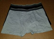 TUCKER + TATE Cotton Boxer Briefs Big Boys XL 18-20 Black and Grey Two Pack NWOT
