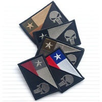 5PCS PUNISHER SKULL CHILE FLAG CHILE MILITARY 3D TACTICAL MORALE HOOK LOOP PATCH