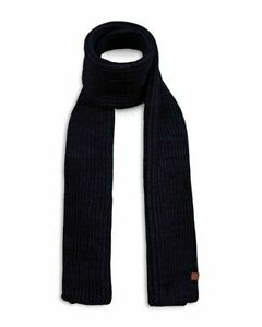Mens Bickley + Mitchell Knitted Scarf - Navy, One Size [031052 09]