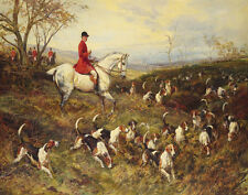 Hardy Heywood Master Of The Hounds Canvas 16 x 20     #5710