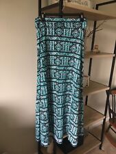 Lularoe  S Women's Maxi Skirt Long Flowy  Black/teal Geometric
