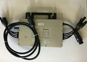 Hoymiles HM-1200 Wechselrichter Micro PV Solar Betteristecker Schuko Kabel
